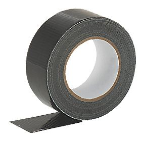 Cloth Tape 27 Mesh Black 50mm X 50m Duct Tape Screwfix Com