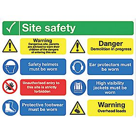 Quot Site Safety Quot Notice Sign 600 X 800mm Site Safety Signs