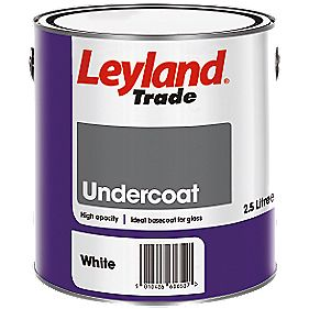 Leyland Trade Undercoat White 2 5ltr Gloss Paints
