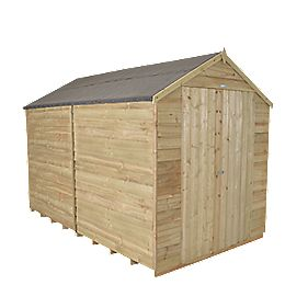 Forest 8 X 10 Nominal Apex Overlap Timber Shed