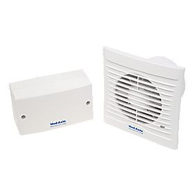 Vent-Axia 100SVT 8.7W Axial Bathroom Timer Extractor Fan ...