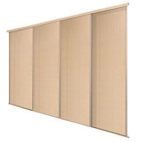 Spacepro 4 Door Panel Sliding Wardrobe Doors Maple 2998 X
