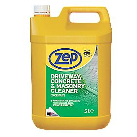 Zep commercial driveway concrete masonry cleaner for Best rated concrete cleaner