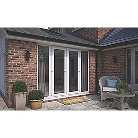 Att upvc french doors sidelights white 2390 x 2090mm for Upvc french doors 1790 x 2090mm