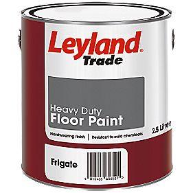 Leyland Trade Heavy Duty Floor Paint Frigate Grey 2 5ltr