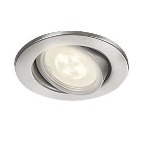 Philips Fresco Recessed Ceiling Spotlight Stainless Steel 3w Led Ceiling Lights Screwfix Com