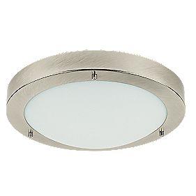 Portal Bathroom Ceiling Light Brushed Chrome Es 60w Bathroom Ceiling Lights Screwfix Com