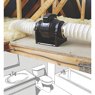 Manrose Mf100t 100mm In Line Mixed Flow Extractor Fan With