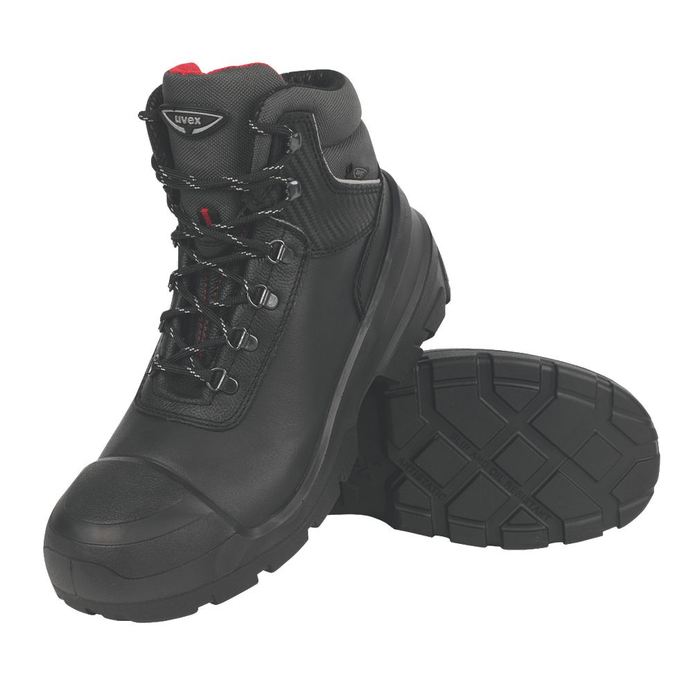 NEW Uvex Quatro Pro Safety Boots Black Size 12