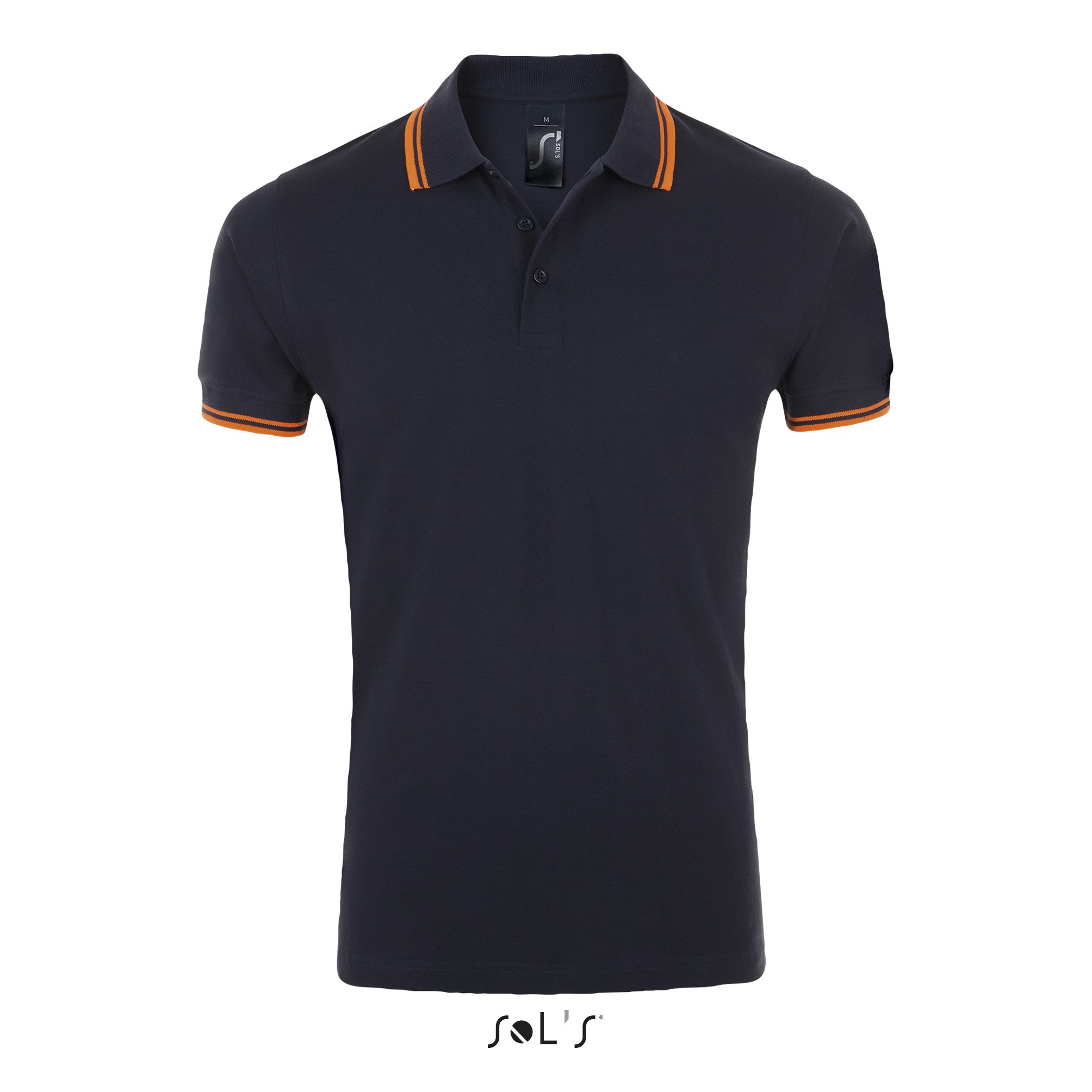 535 - French navy / Neon orange