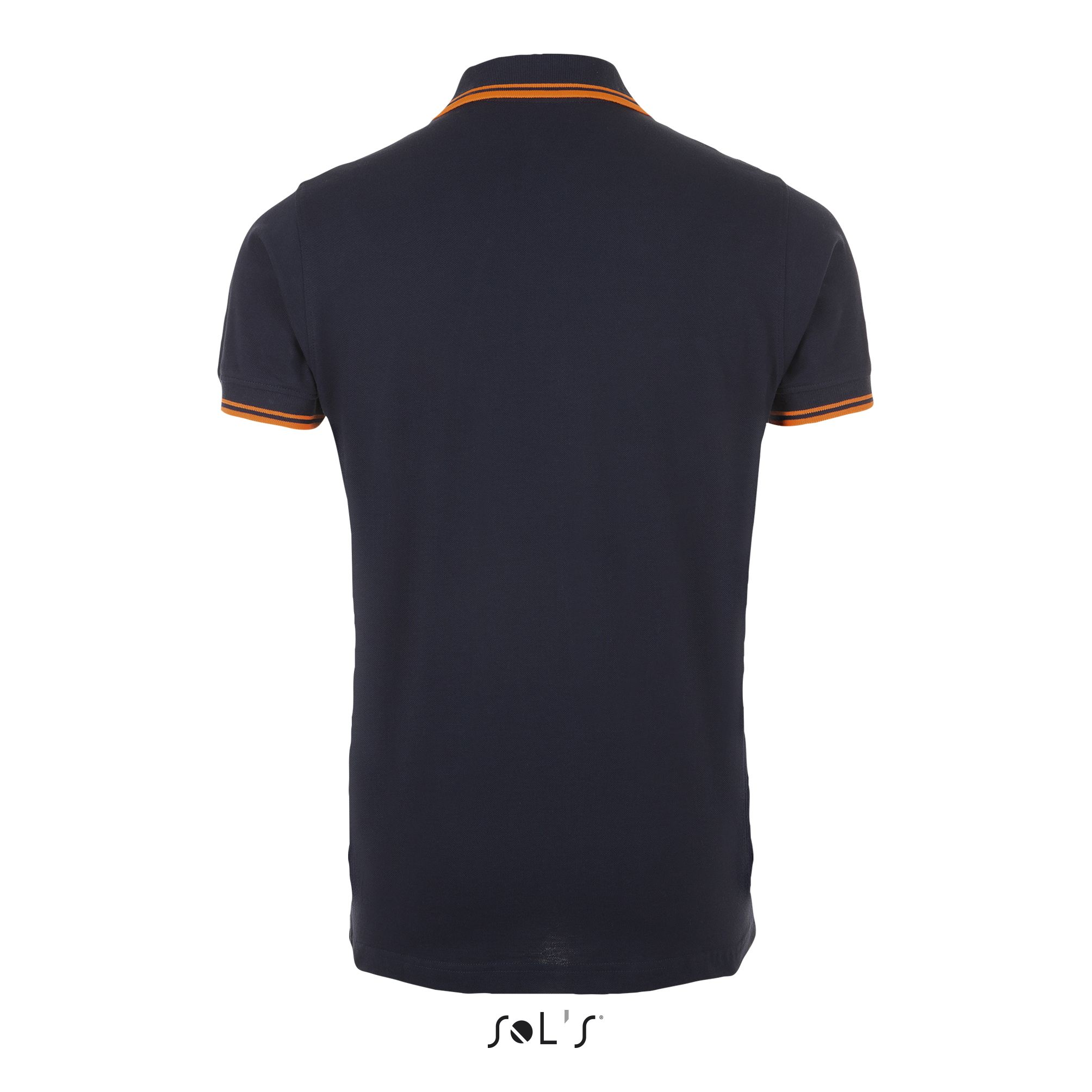 535 - French marine / Orange fluo