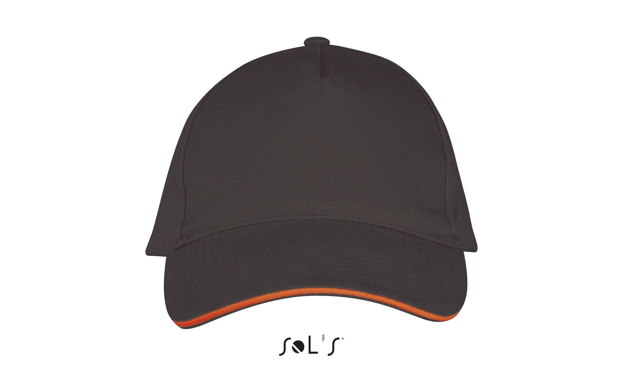 799 - Gris foncé / Orange