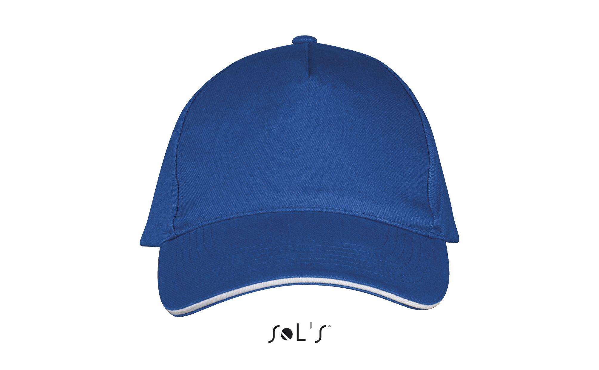 913 - Royal blue / White