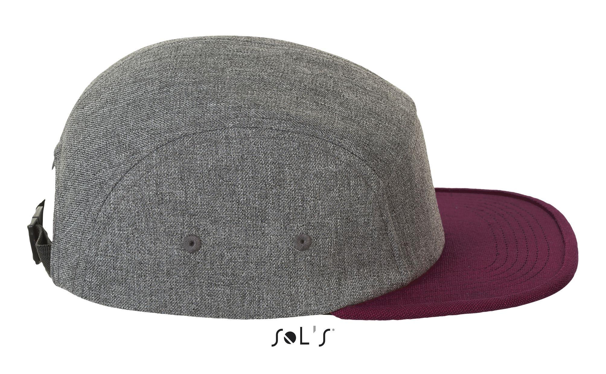 510 - Charcoal melange / Burgundy