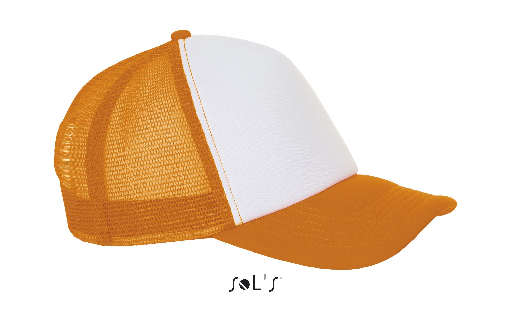 517 - Blanc / Orange fluo