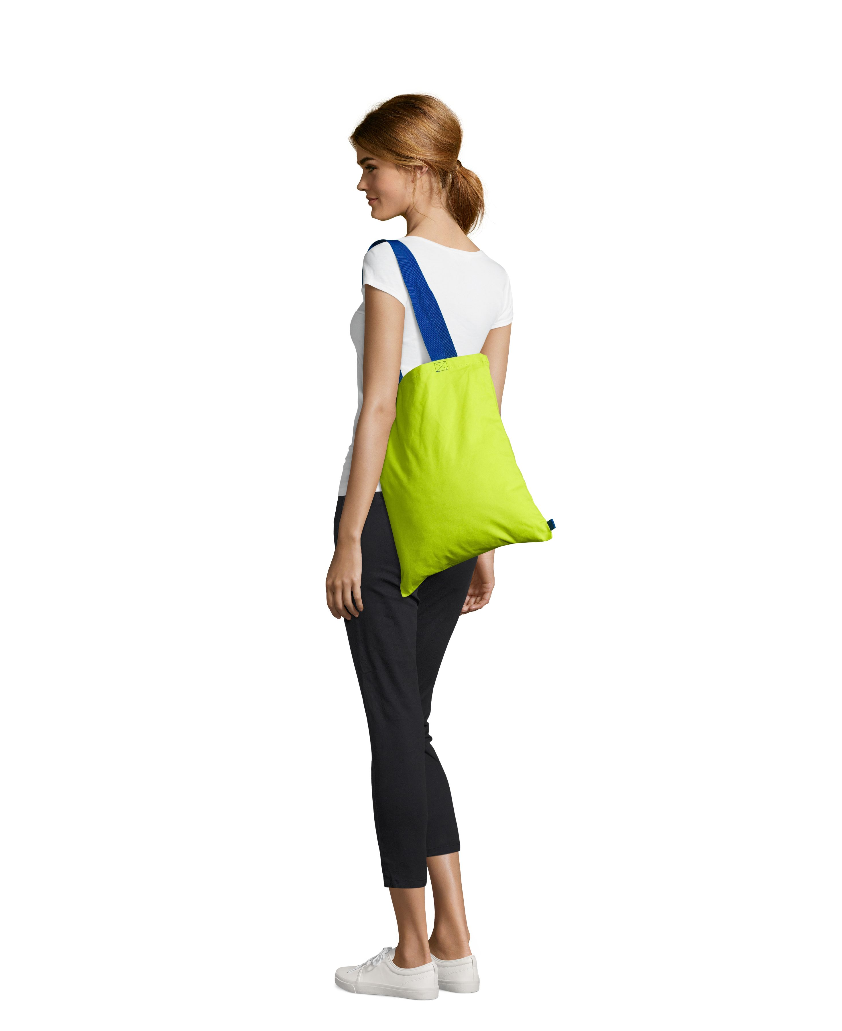 887 - Neon lime / Royal blue