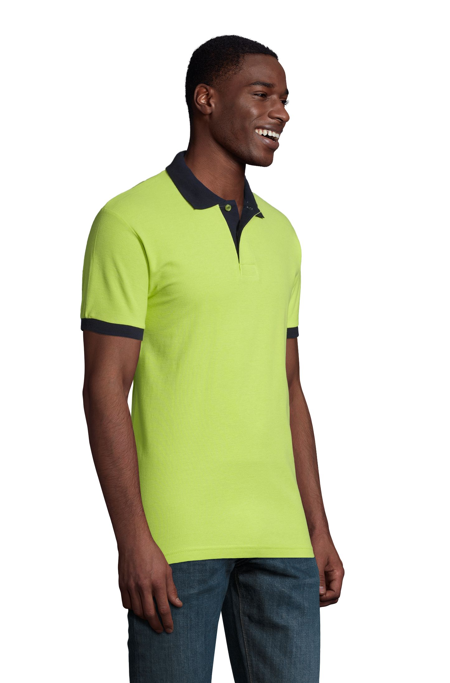 924 - Apple green / French navy