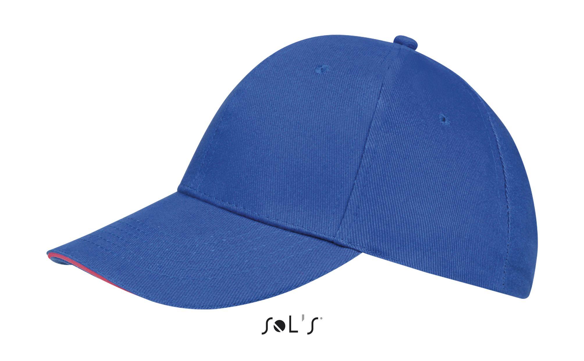 529 - Royal blue / Neon coral